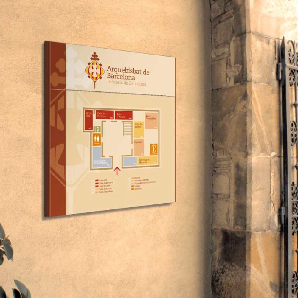 Señalética Corporativa – Arquebisbat de Barcelona