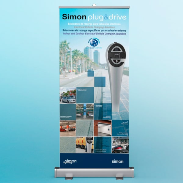 Roll-up Simon plug&drive – Simon