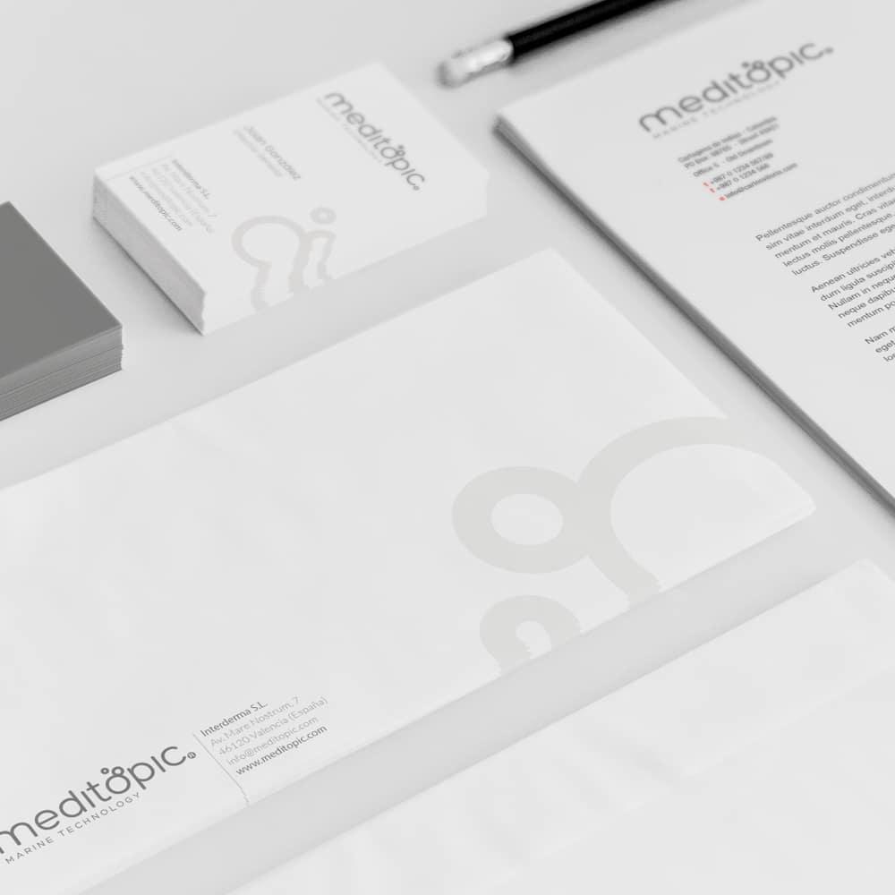 Marca + Identidad Corporativa Meditopic – Interderma