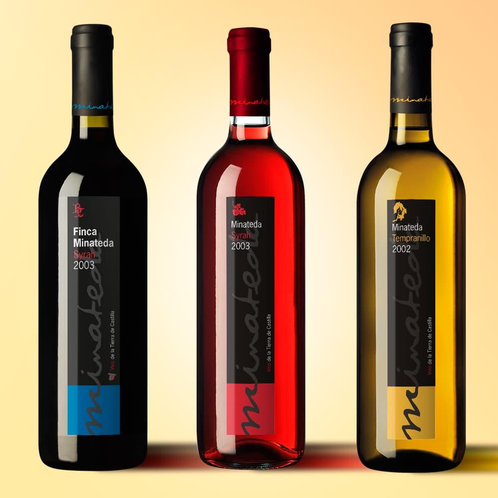 Marca + Nuevas Etiquetas Vinos Finca Minateda – Bodegas Cantó