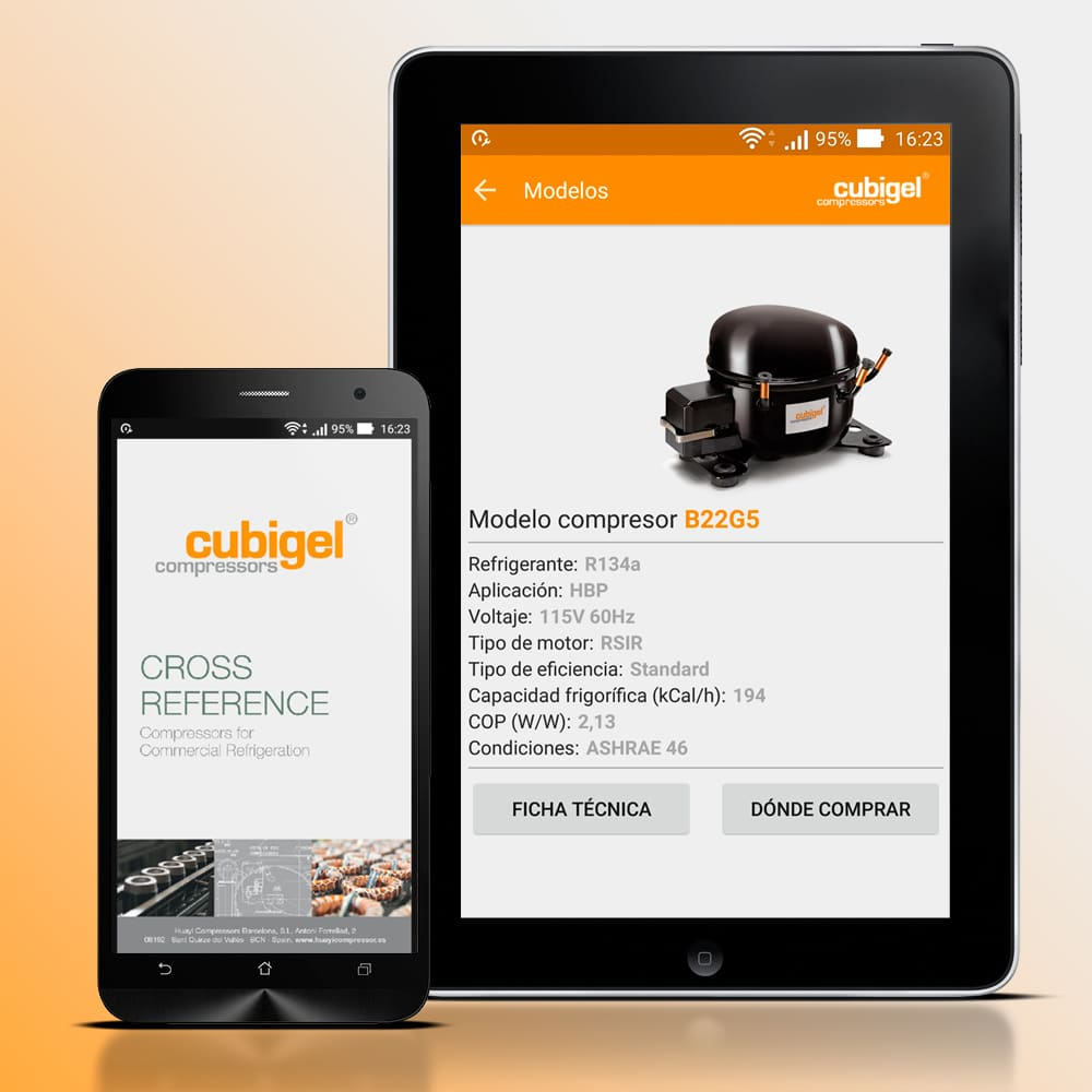 Cubigel Compressors® Cross Reference APP – Cubigel – Huayi