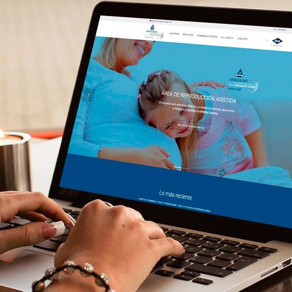 Página Web Fertilidad Online – Angelini Farmacéutica