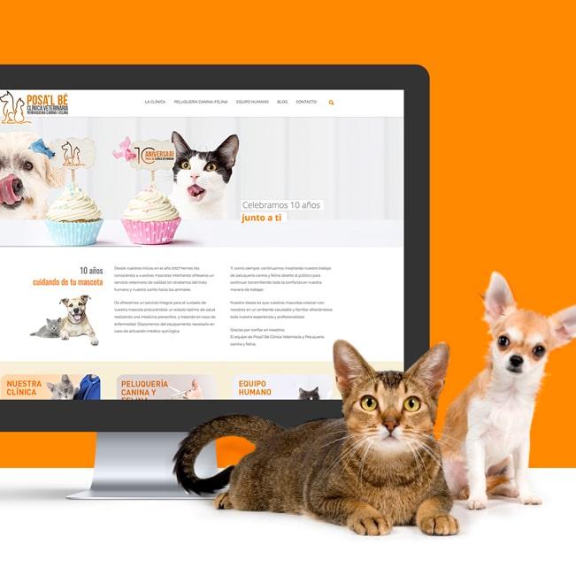 Página Web – Posa'l Bé