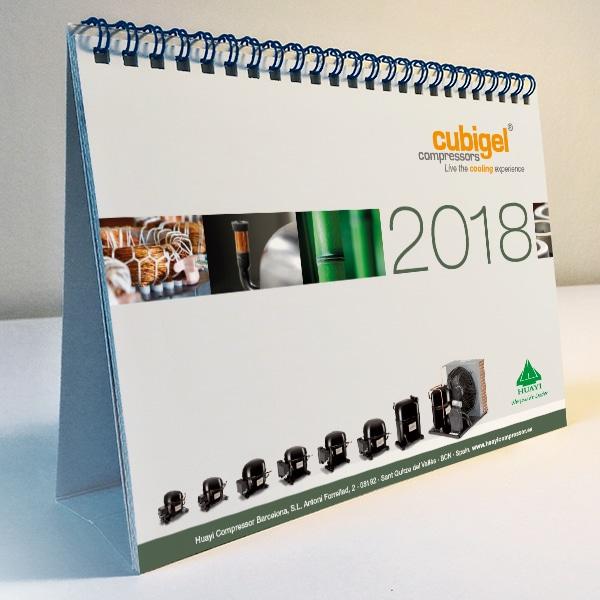 Calendario sobremesa 2018 – Cubigel Huayi