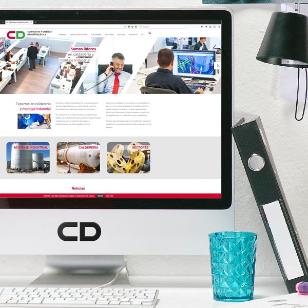 Página Web – Contratos y Diseños Industriales S.A. (Cydisa)