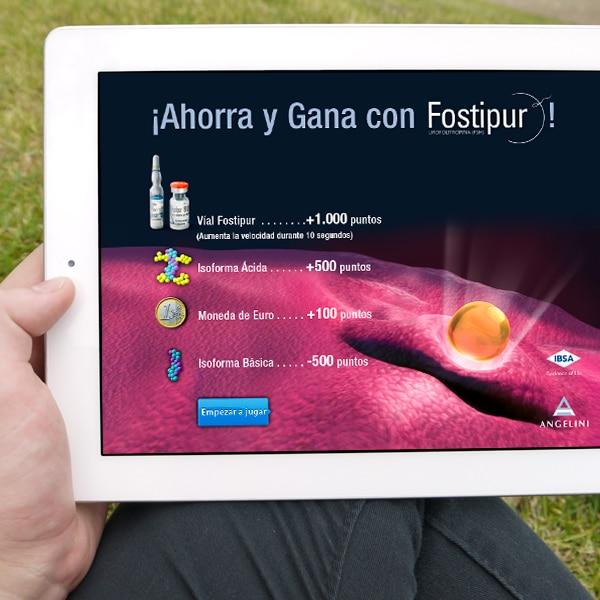 Juego iPad Fostipur – Angelini Farmacéutica