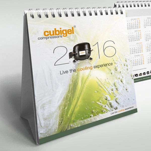 Calendario sobremesa 2016 – Cubigel Huayi