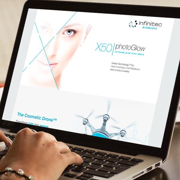 Microsite X50 photoGlow – Infinitec