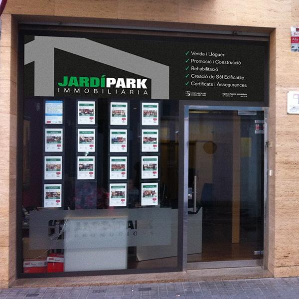 Rótulo fachada – Jardí Park