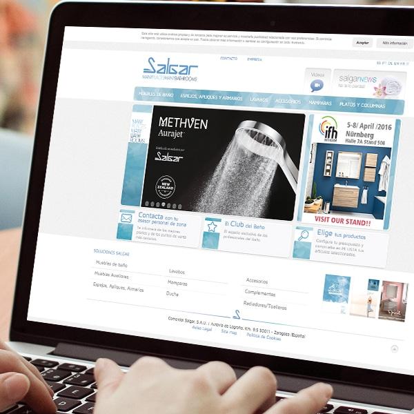 Página Web – Comercial Salgar