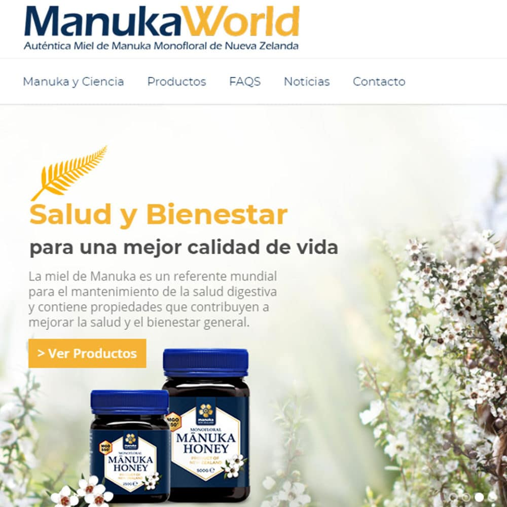 Página Web – Manuka World