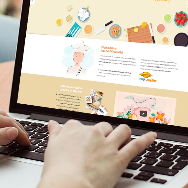 Página Web Just add Creativity – CSM Bakery Solutions