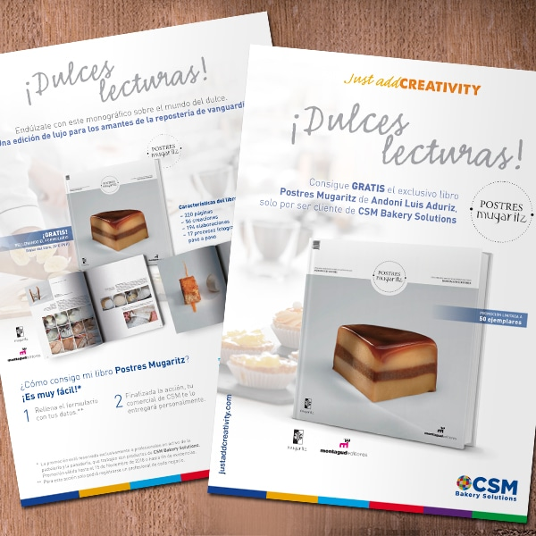 Campaña Dulces lecturas – Just add Creativity – CSM Bakery Solutions