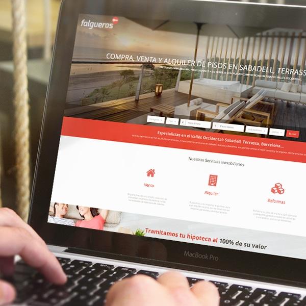 Página Web – Falgueras Immobiliària