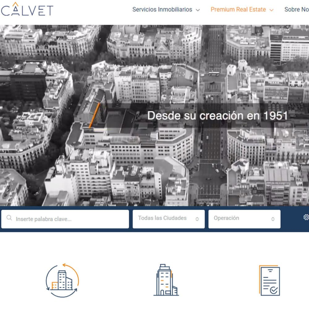 Web Calvet Servicios Inmobiliarios